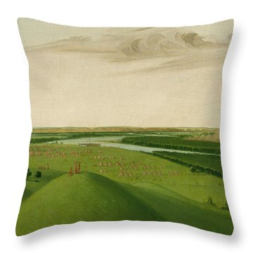 Fort Union, Mouth Of The Yellowstone River Throw Pillow