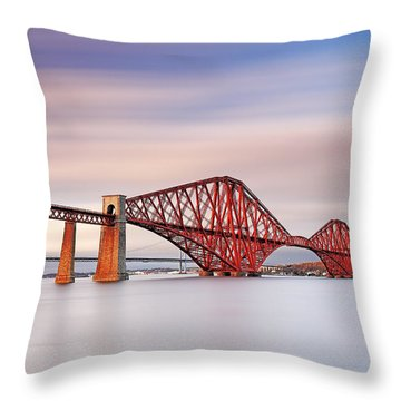 Forth Railway Bridge Throw Pillow