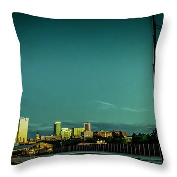 Fortworth Texas Cityscape Throw Pillow