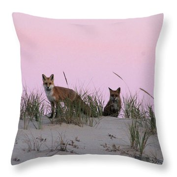 Fox And Vixen Throw Pillow