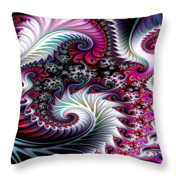 Fractal Pinks Throw Pillow