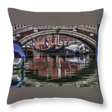 Framed Gondolas Throw Pillow