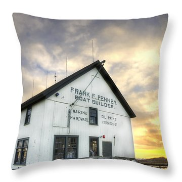 Frank F. Penney Boat Builder Throw Pillow
