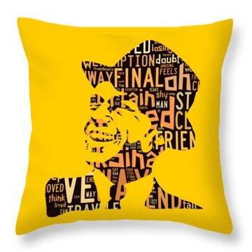 Frank Sinatra I Did It My Way Throw Pillow