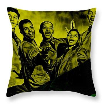 Frankie Lymon Collection Throw Pillow