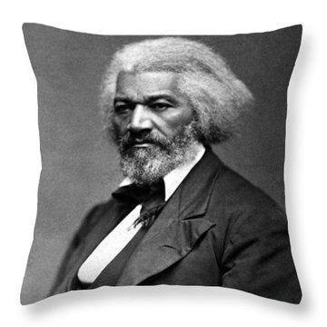 Frederick Douglass Photo Throw Pillow