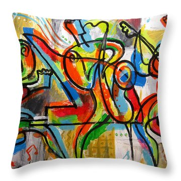 Free Jazz Throw Pillow