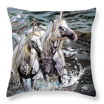 Freedom And Friendship Throw Pillow