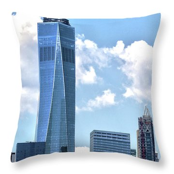 Freedom Tower Throw Pillow by Mitch Cat