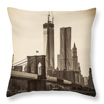 Freedom Tower Rising Throw Pillow