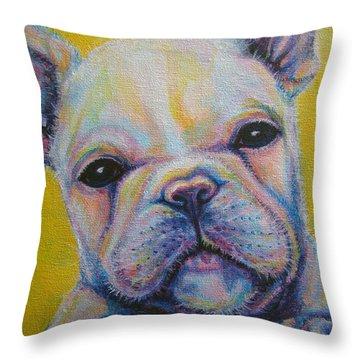 French Bulldog Throw Pillow by Jack No War
