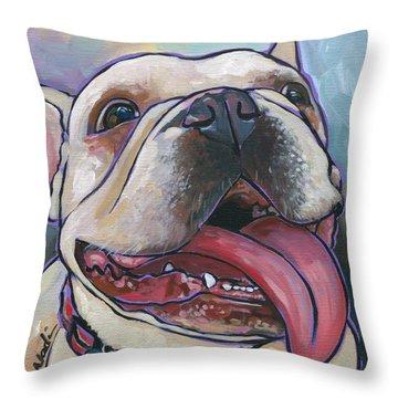 French Bulldog Throw Pillow by Nadi Spencer