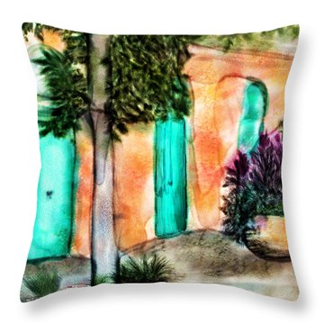 French Quarter Alley Throw Pillow