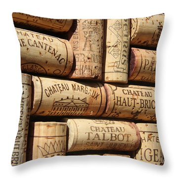 French Wines Throw Pillow by Anthony Jones