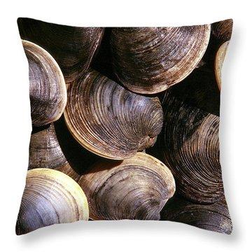 Fresh Clams Throw Pillow by John Greim