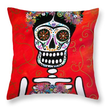 Frida Dia De Los Muertos Throw Pillow