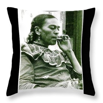 Frida Kahlo Throw Pillow by Pg Reproductions
