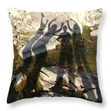 Friends Throw Pillow by Julie Niemela