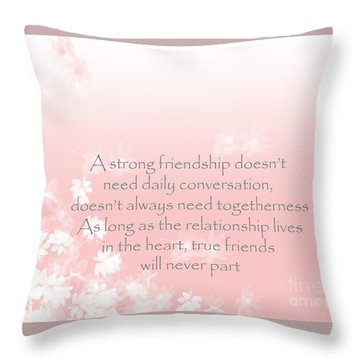 Throw Pillow featuring the digital art Friendship by Trilby Cole