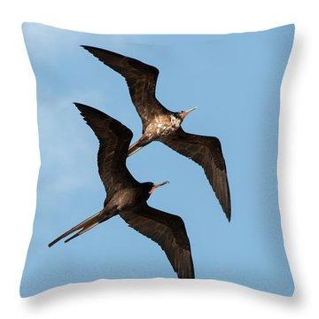 Frigates At Isla Mujeres Throw Pillow