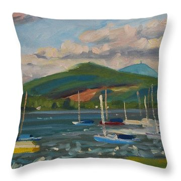 From The Blue Anchor Throw Pillow