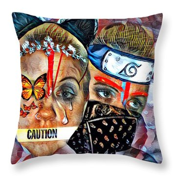 From Waif To Warrior Throw Pillow