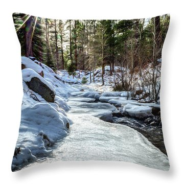 Frozen Creek Throw Pillow
