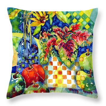 Fruit And Coleus Throw Pillow