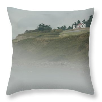 Ft. Casey Lighthouse Throw Pillow