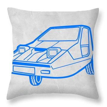 Funny Car Throw Pillow