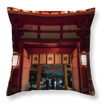 Fushimi Inari Taisha, Kyoto Japan Throw Pillow