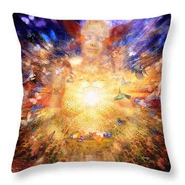 Gaia's Vibe Throw Pillow by Robby Donaghey