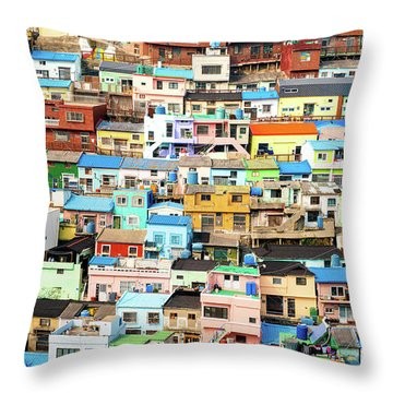 Gamcheon Culture Village Throw Pillow
