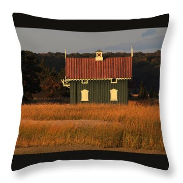 Gamecock Cottage Stony Brook New York Throw Pillow by Bob Savage