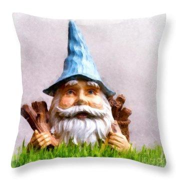 Garden Gnome Throw Pillow