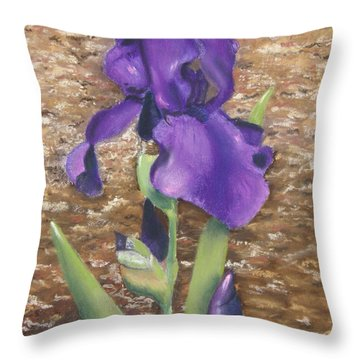 Garden Iris Throw Pillow