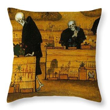 Garden Of Death Throw Pillow