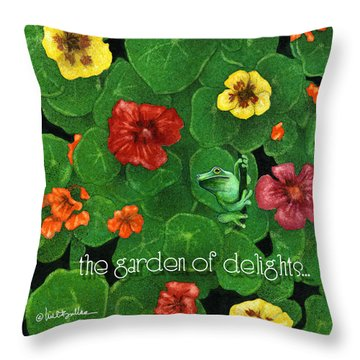 Garden Of Delights... Throw Pillow