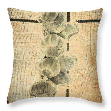 Garlic Throw Pillow by Elaine Teague