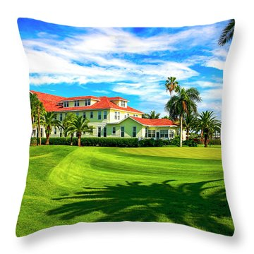 Gasparilla Inn, Boca Grande Fl Throw Pillow