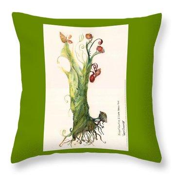 Gate Goddess Of Forest Nautica Throw Pillow