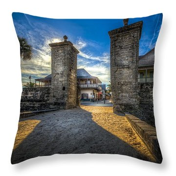 Gate To The City Throw Pillow