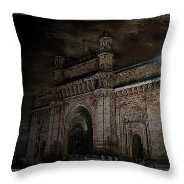 Gate Way Of India Throw Pillow