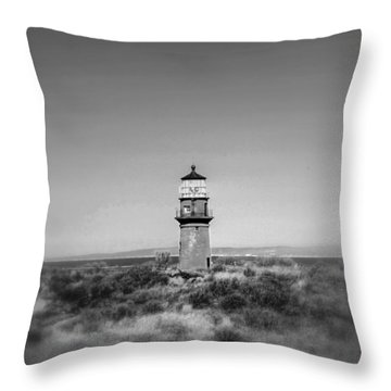Gay Head Light Throw Pillow by Greg DeBeck
