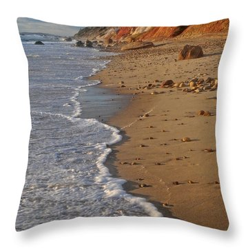 Gayhead Cliffs Marthas Vineyard Throw Pillow