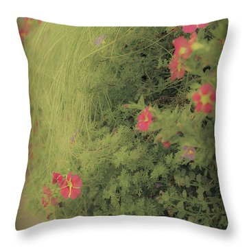 Gems In The Grass Throw Pillow