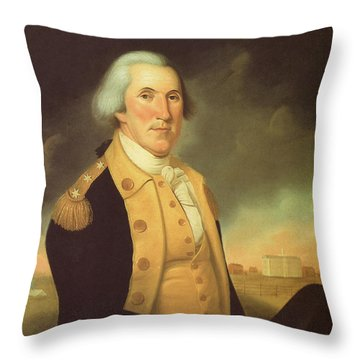 General George Washington Throw Pillow