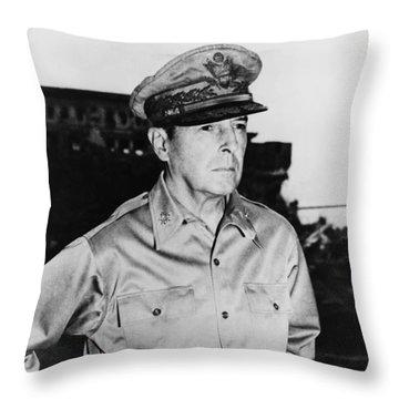 General Macarthur Throw Pillow