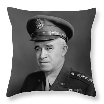 General Omar Bradley Throw Pillow