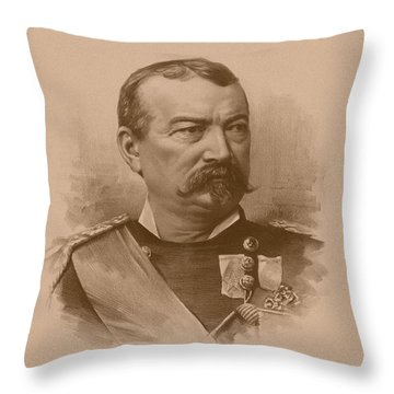 General Philip Sheridan Throw Pillow